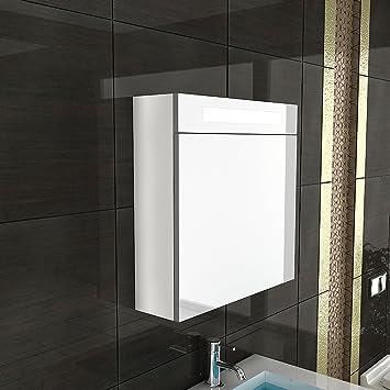 möbel für´s bad / spiegelschrank mit beleuchtung / s-60 / weiss ... - Badezimmer Spiegelschränke Mit Beleuchtung