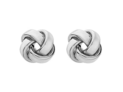 Tuscany Silver Sterling Silver Large Polished Knot Stud Earrings F1qwe