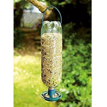 Genérico g pájaros Botellas en comederos de pájaros comedero K Recycle Bebida en la alimentación 4 x Botella Top comedero Kit Colgante pájaro Top Hangi ...