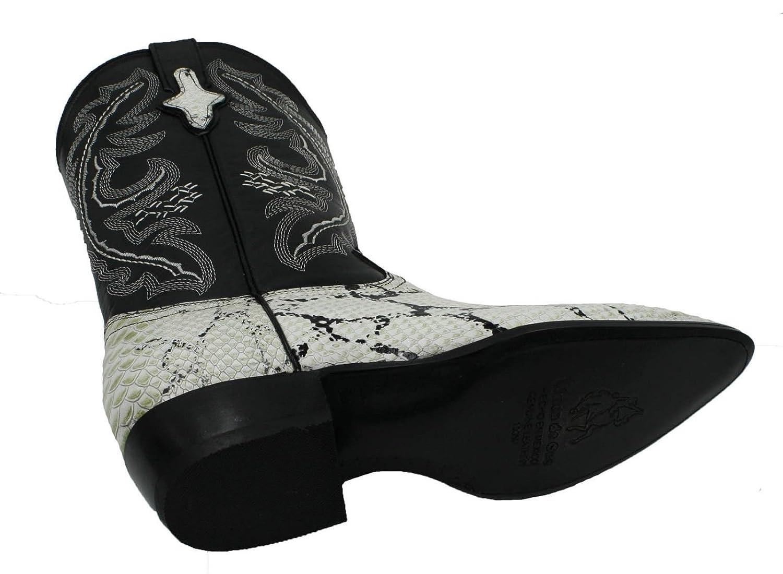 2162b69bae Dona Michi Men Pitillo de cuero genuino de piel de pitón J Toe Western  Cowboy Boots de cuero Natural