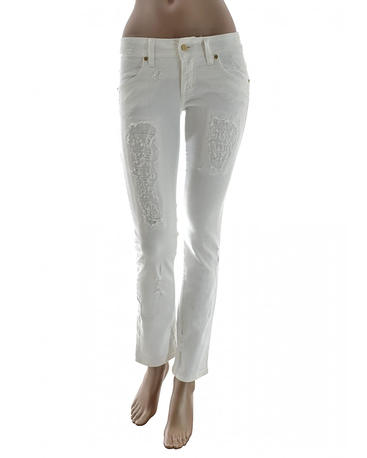 MET jeans donna - effeto vintage con strappi - made in ITALY 30%OFF ... f47ad52b677c
