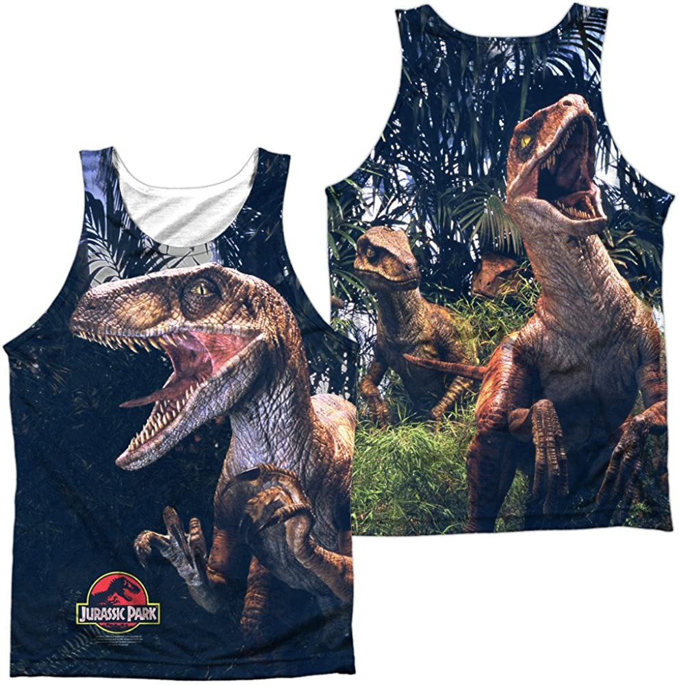 Sons of Gotham Jurassic Park Raptors Adult Tank Top