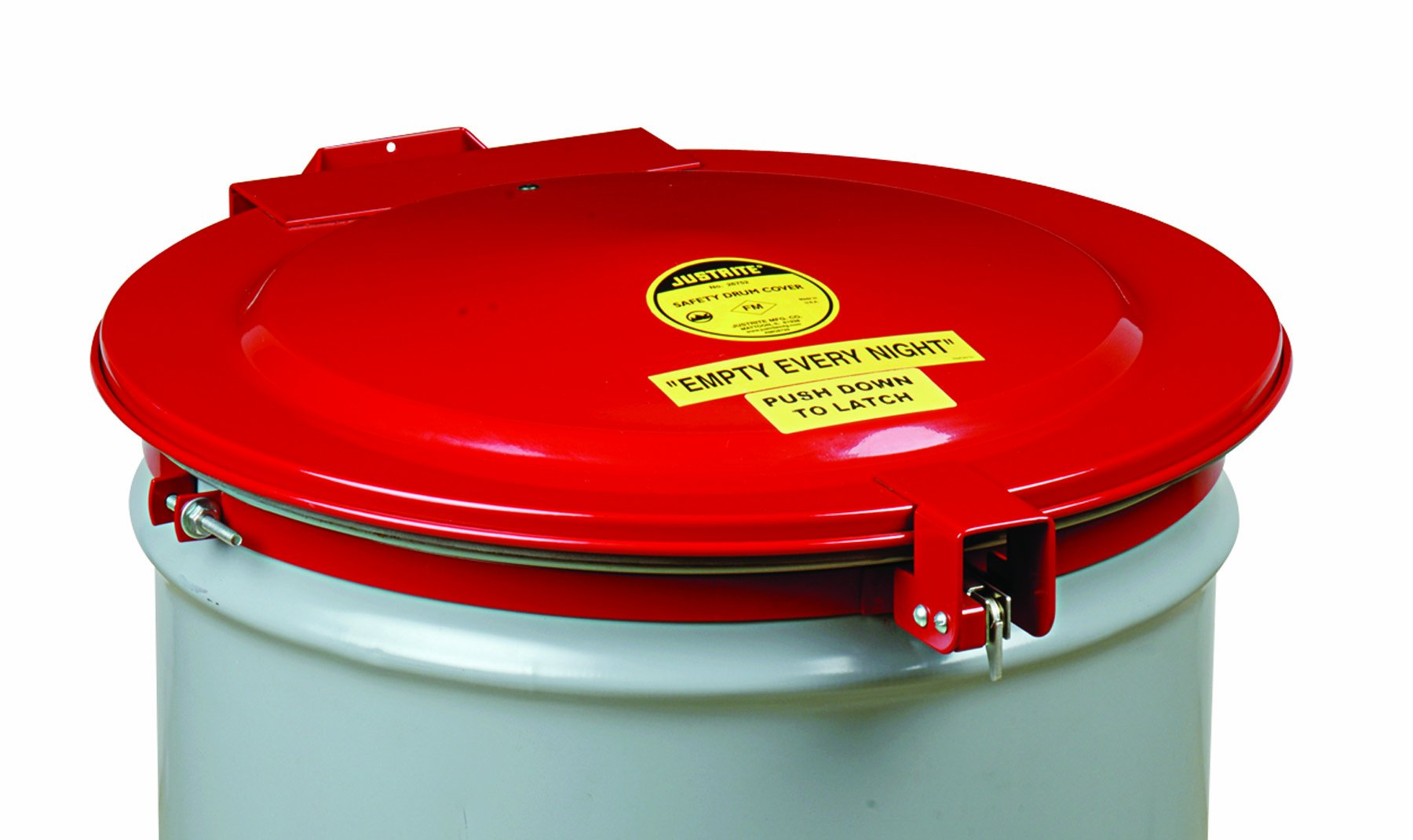 Justrite 26753 New Self-Latching Safety Drum Cover