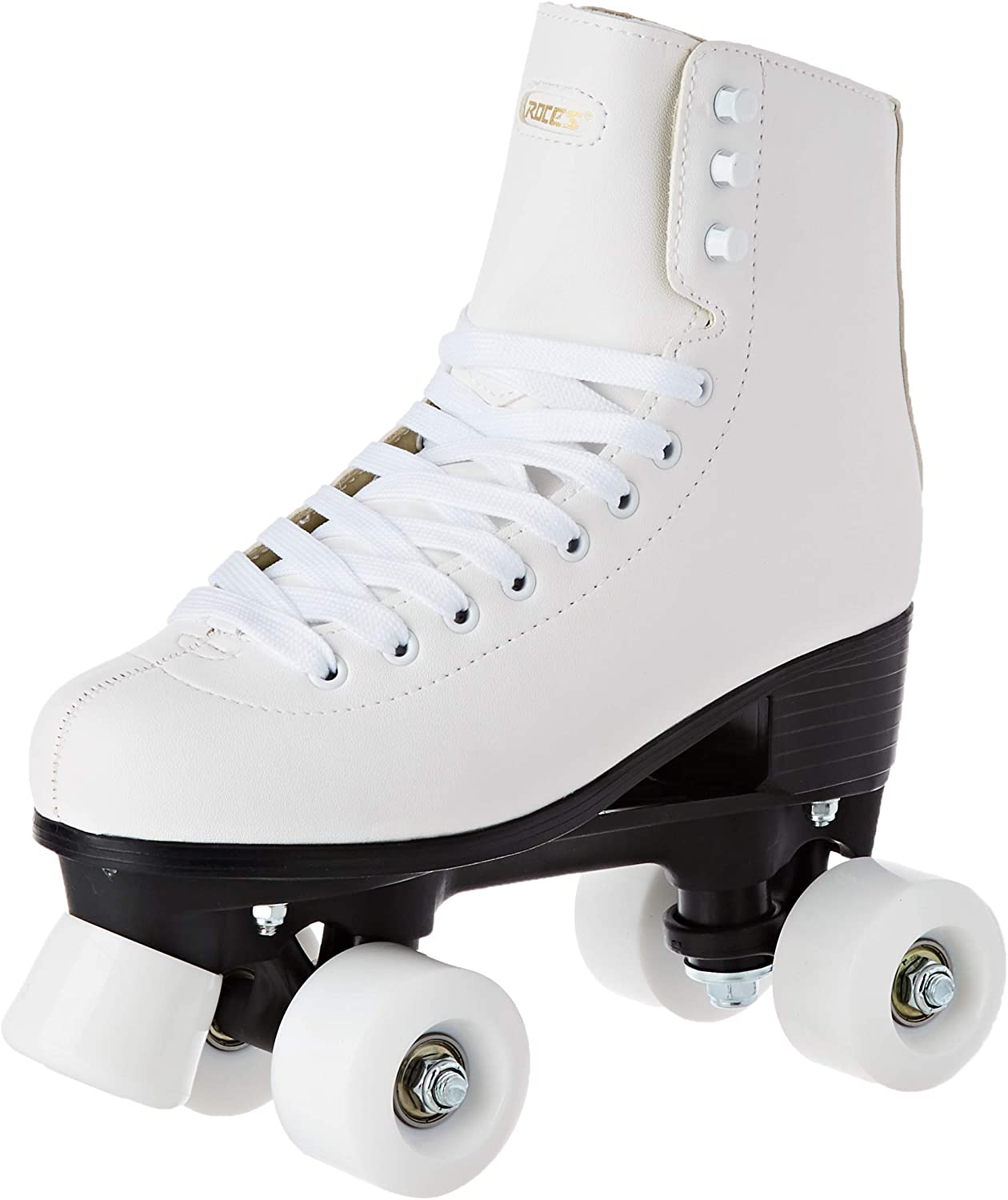 Roces RC1 Classic Roller Skates Artistic, Quad 4 Wheels Skating, for Man and Woman, Unisex, Adult / Uk