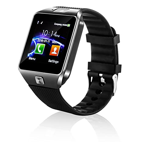 Bluetooth reloj inteligente por forspark- 1.54 pulgadas pantalla táctil con SIM TF ranura para tarjeta