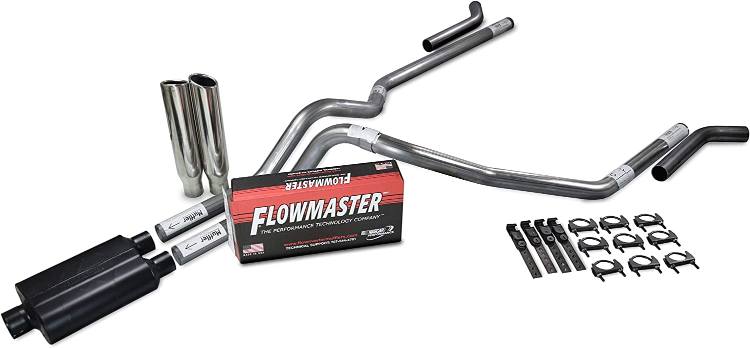 Shop Line dual exhaust system 2.5 AL pipe Flowmaster 40 Truck Exhaust Kits