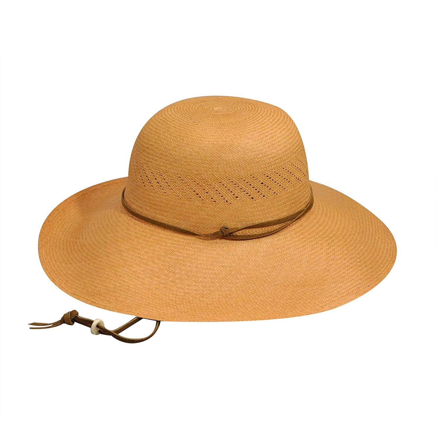 Pantropic Mens River Roll-up Panama Hat with Creased Crown Packable