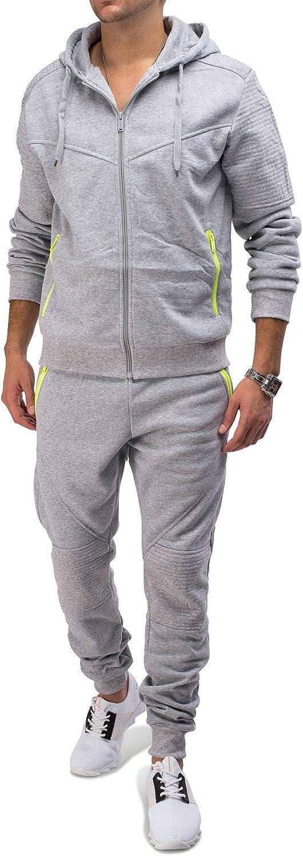 Herren Streetstyle Jogginganzug Neon Trainingsanzug