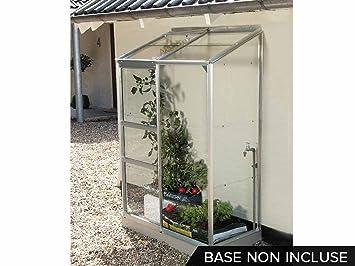LAMS Serre adossée en verre Ida - 0,90 m²: Amazon.fr: Jardin