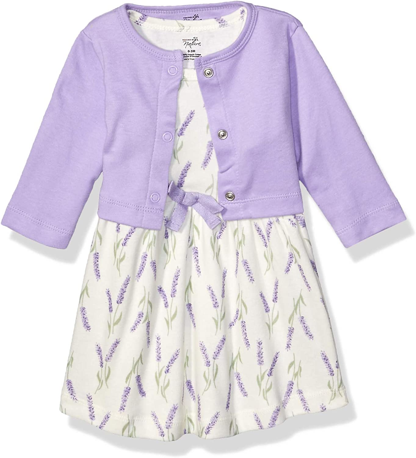 Touched by Nature Baby Girls Organic Cotton Cardigan and Dress Casual