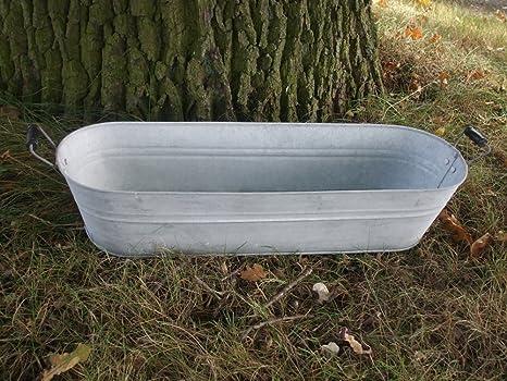 Vasca Da Bagno Di Zinco : Vasca di zinco zinco vasca vaso per piante zinco bottich vaso