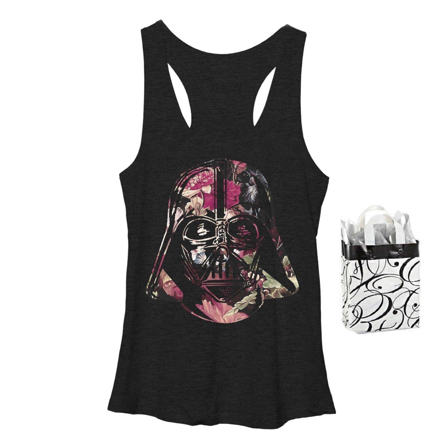 Star Wars Womens' Antique Vader Burnout Tank Top & Gift Bag - Multi-pack (2XL)