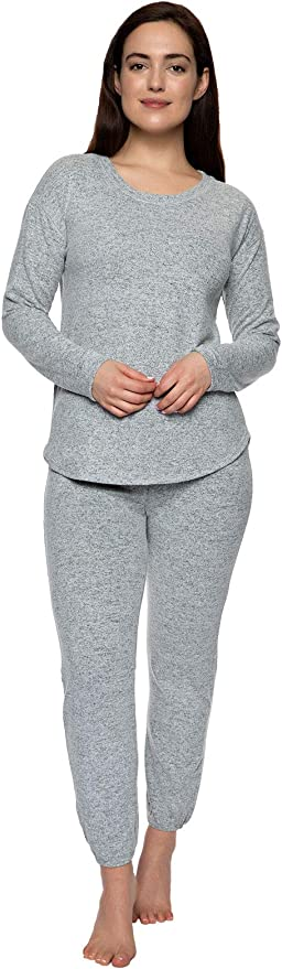 Womens Coco Print 2PCS Loungewear Tracksuit Ladies Oversized Top and Jogger Set