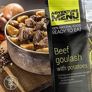 Adventure Menu Beef goulash with boiled potatoes: Amazon.es ...