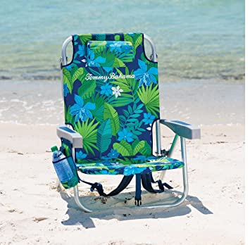 Tommy Bahama 2017 Backpack Cooler Beach Chair Lounge With Storage Pouch And  Towel Bar (VARIOUS