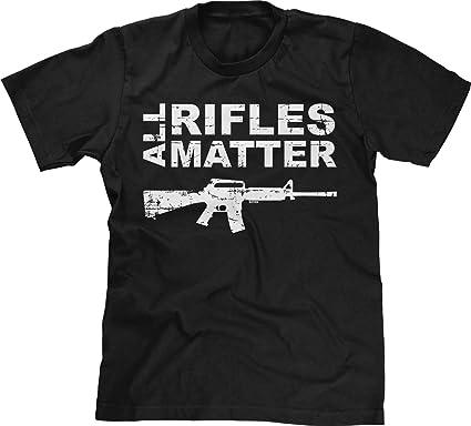 585f54f93726f Amazon.com  Blittzen Mens T-Shirt All Rifles Matter  Clothing