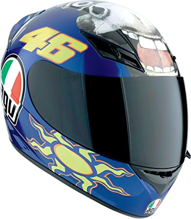 Agv K3 Rossi Donkey Motorcycle Helmet Blue Xl X Large Amazon In Home Kitchen