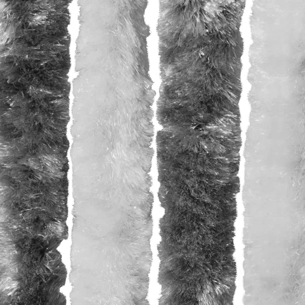 Tidyard Moustiquaire//Rideau Contre Insectes Chenille Gris et Blanc 90x220 cm