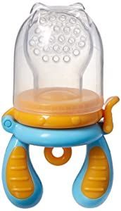 Kidsme Food Feeder Double Pack with Clip (Large Size) (Blue/Orange and Green/Yellow)