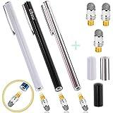 aibow ペン先交換式 スタイラスペン abw-p24 3本+交換ペン先3個セット (ブラック+シルバー+ホワイト)