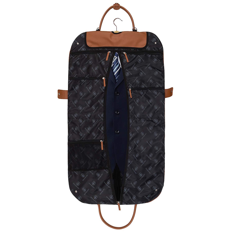 GENTLEMAN SYLT Kleidersack Herren,Damen atmungsaktiv Anzugsack Ledertop|Anzugtasche Schuhtasche|Kleiderh/ülle|Kleidertasche Reise wasserabweisend