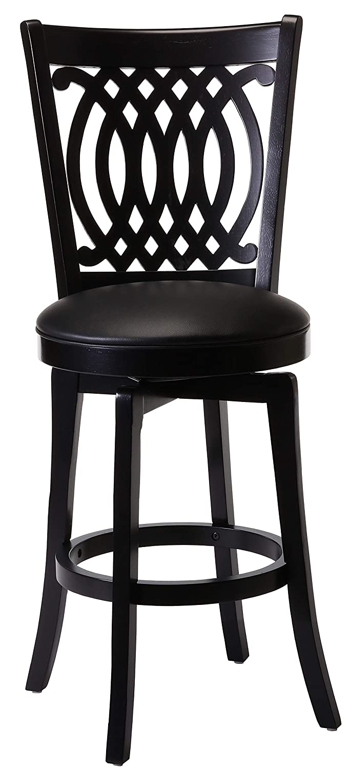 Hillsdale Van Draus Swivel Counter Stool and Flare Leg, Black