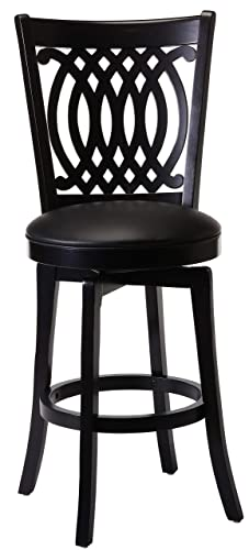 Hillsdale Van Draus Swivel Barstool and Flare Leg, Black