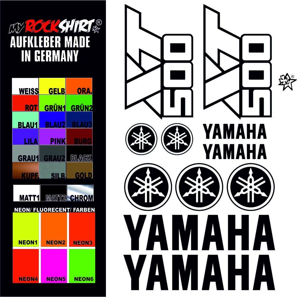 Myrockshirt Sticker Set Matt Black Yamaha Xt 500 Sticker