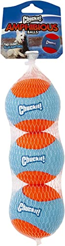 Chuckit Amphibious Dog Balls, Medium, 3 Pack, Assorted 32355