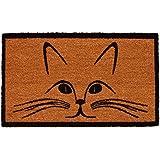 "Home & More 121321729 Purrfection Doormat, 17"" x 29"" x 0.60"", Natural/Black"