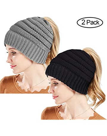 4cb3302c361 Rosoz Winter Ponytail Beanie for Women
