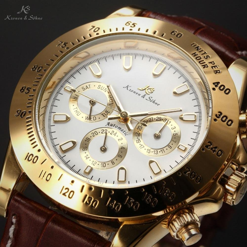 Amazon.com: LNTGO Ks Imperial Luxury Men Wristwatch Day Date Display Male Clock Relojes De Marca Automatic Mechanical Mens Wrist Watch - Ks162: Sports & ...