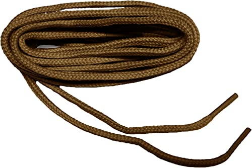 Tan w//Black Kevlar Reinforced Boot laces Shoestrings Heavy Round 2 pair pack NEW