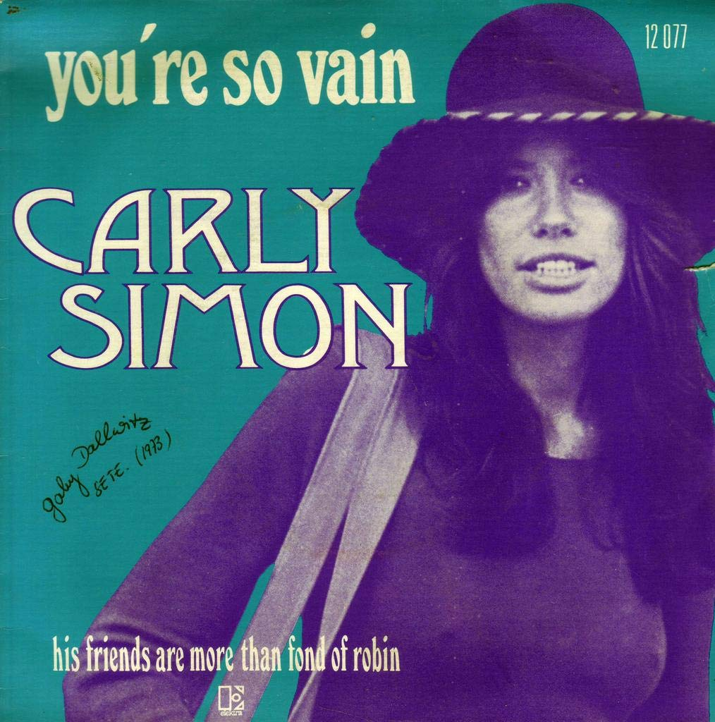 CARLY SIMON - HIS FRIENDS ARE MORE THAN FOND OF ROBIN / YOU'RE SO ...