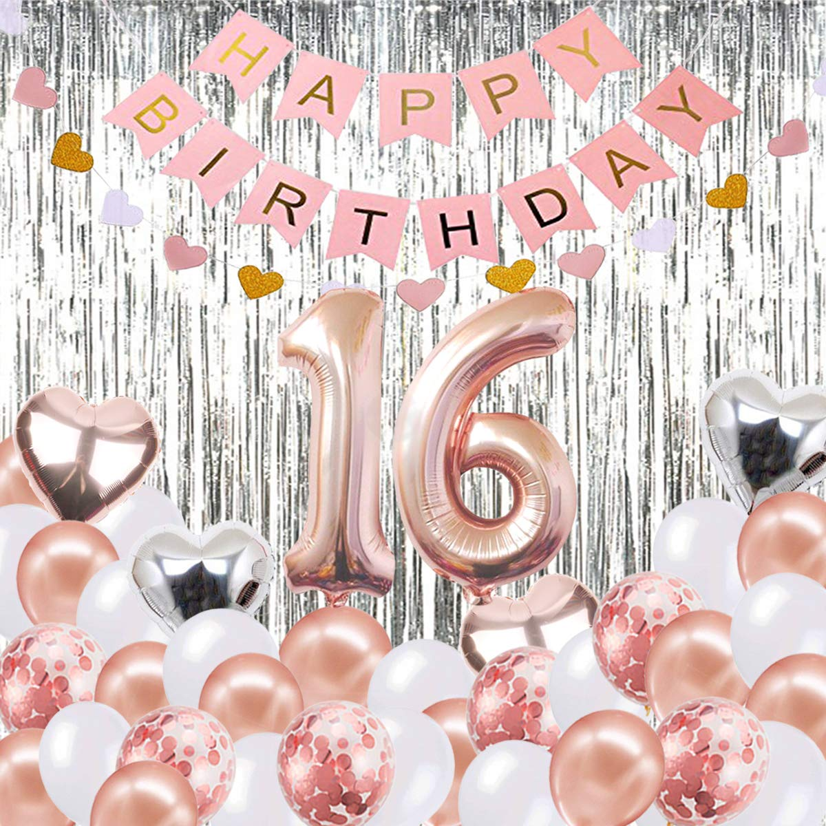 Globos Decorativos para cumpleaños de 16 años, Banner de ...