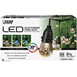 Feit 72018 30 Ft. 15 Bulbs Color Changing LED String Christmas Holiday Lights