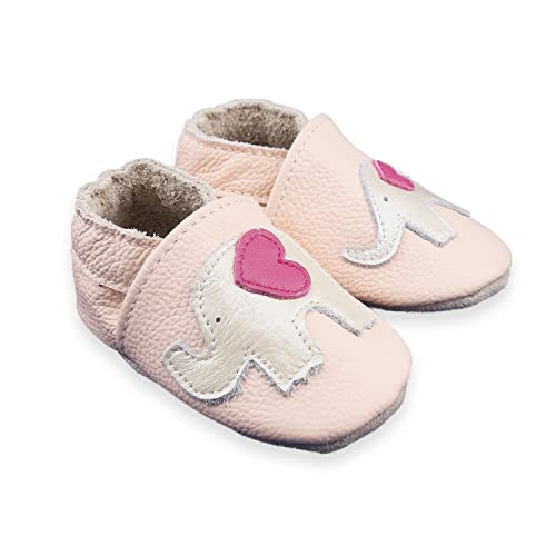 CoCoCute Baby Moccasins - Soft Genuine Leather Sole Baby Shoes and Toddler Moccasins for Boys and