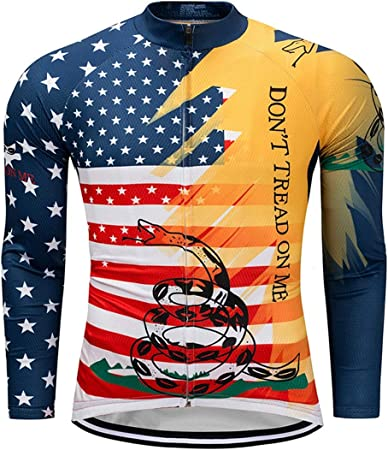 ZWW Camisa de montaña Jersey Largo de Hombres Que completan ...