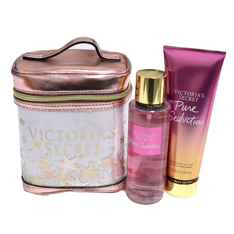 Victoria's Secret Pure Seduction Gift Set Mist, Lotion, Cosmetic Train Case