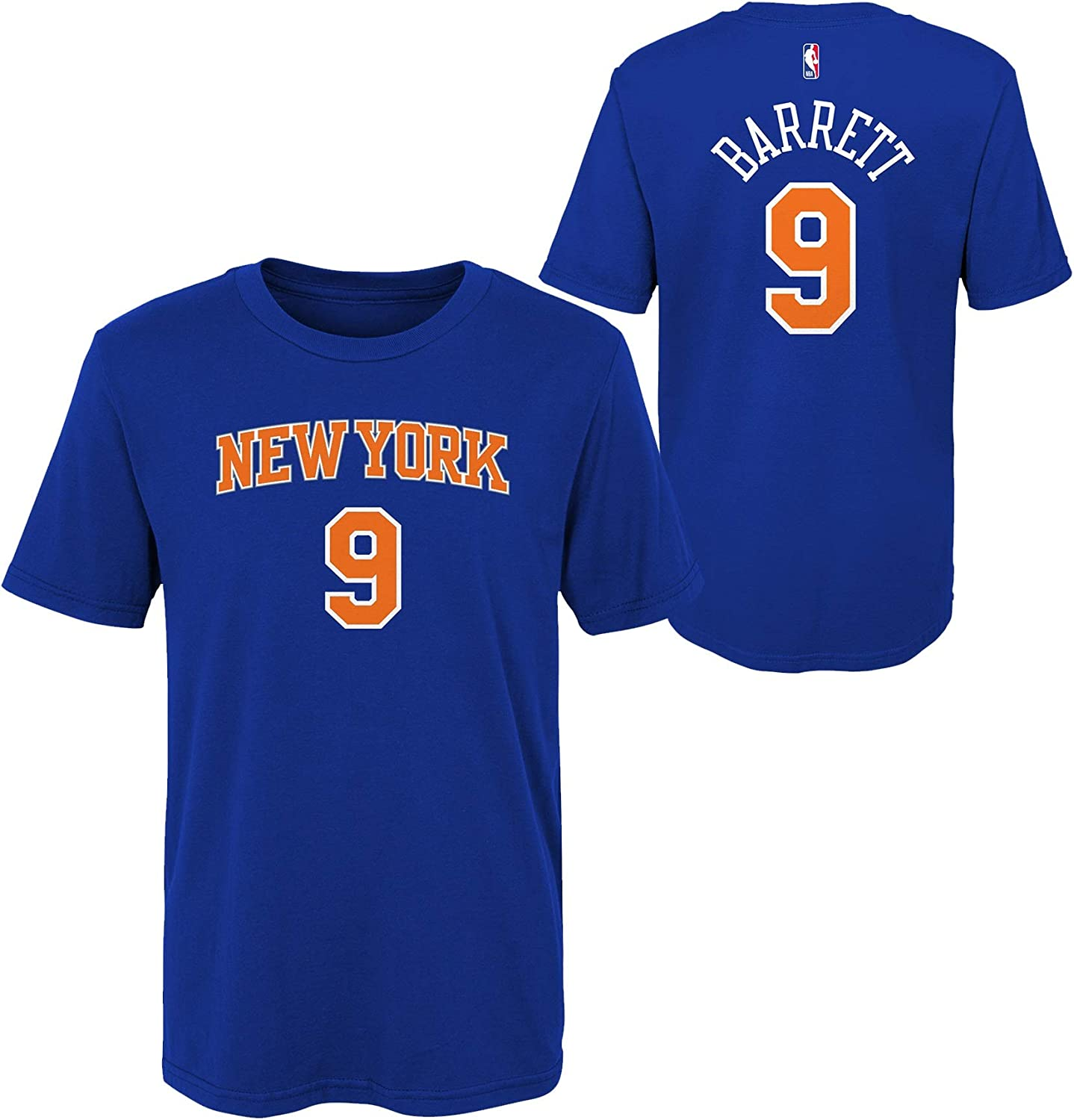 Outerstuff RJ Barrett New York Knicks #9 Royal Blue Youth Player Name /& Number T-Shirt