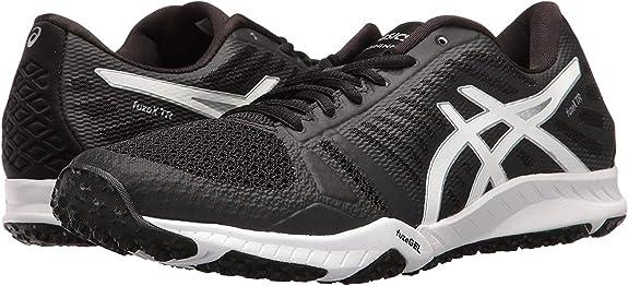 ASICS S663N-3893 - Zapatillas de running de competición de Sintético Mujer, Mujer, Black / White / Silver, UK 8 / EU 42 / US 10 / CM 26.5: Amazon.es: Deportes y aire libre