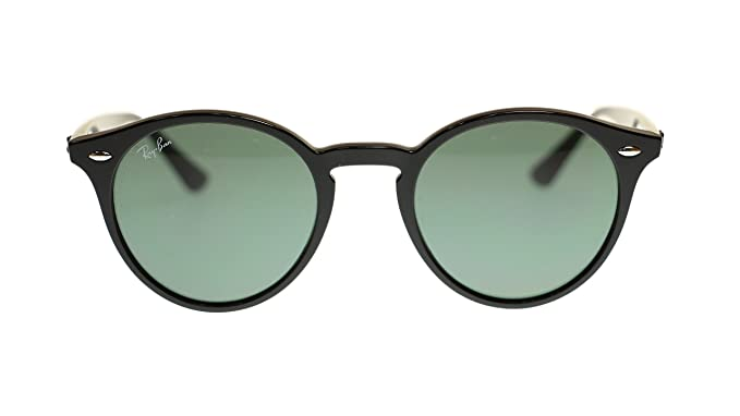 2d119cd61ee Ray Ban uNISEX Sunglasses RB2180 601 71 Black Grey Green Lens Round 51mm  Authentic