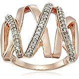 纯银钻石戒指(1/ 4cttw ,颜色 I-J ,净度 I2-I3净度),尺码7