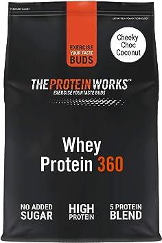 THE PROTEIN WORKS Whey Protein 360 | Batido Alto En Proteínas Para Construir Músculo| Combinación TRI-Proteica | Chocolate Y Coco | 1.2kg