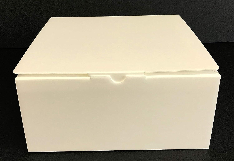 LAMINIL Cajas para Tartas, Dulces y pastelería isotérmicas Isolambox. Juego de 5 Cajas de 26 x 26 x 12 cm, Grosor 2 mm, automontantes con Acabado en Papel ...