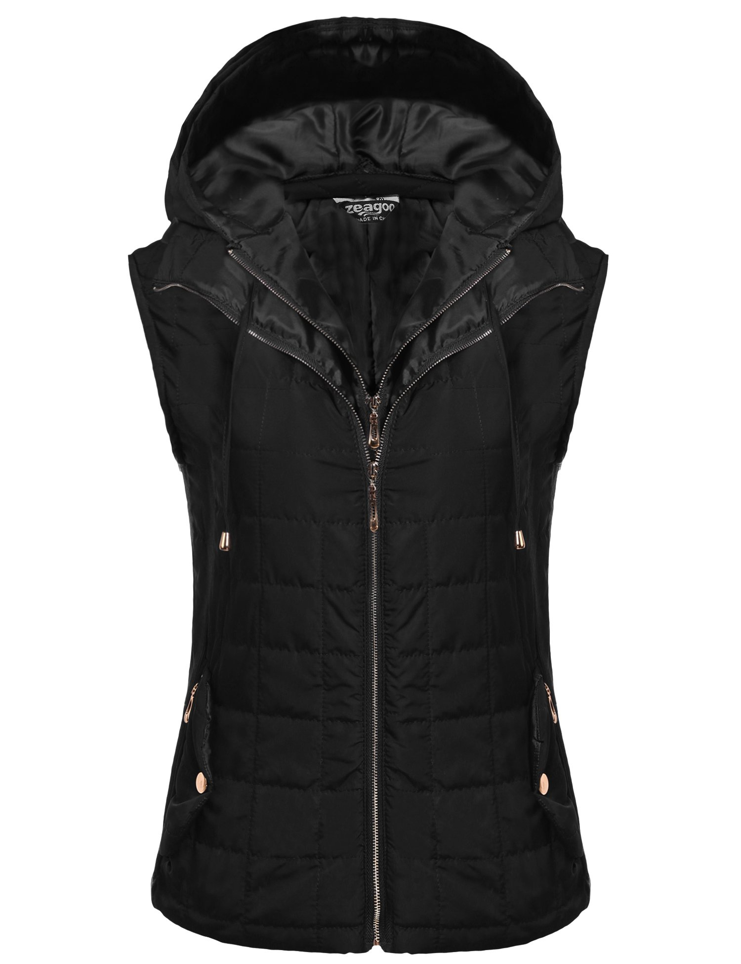 Beyove Women Lightweight Outdoor Quilted Hoodie Down Jacket Vest