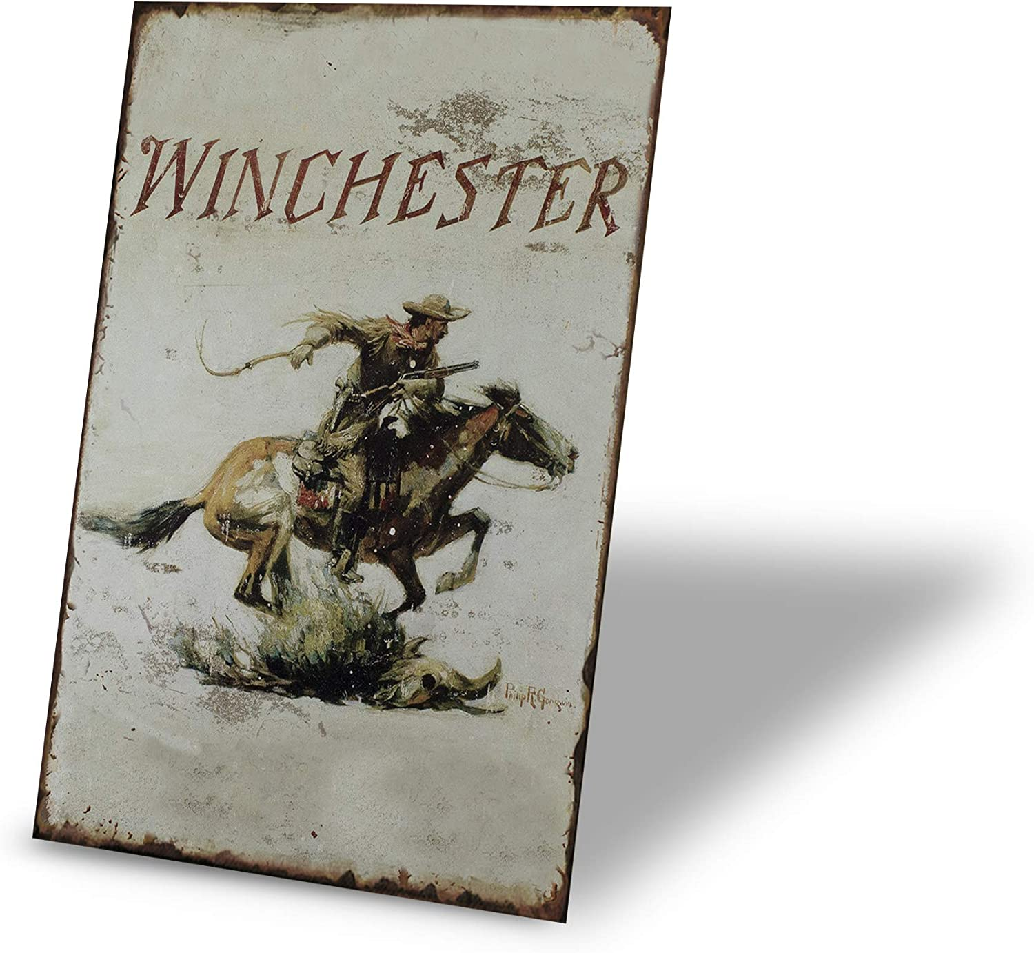 TINSIGNS Winchester Tin Signs Vintage Metal Bar Home Decor Cowboy Sign 8X12Inch