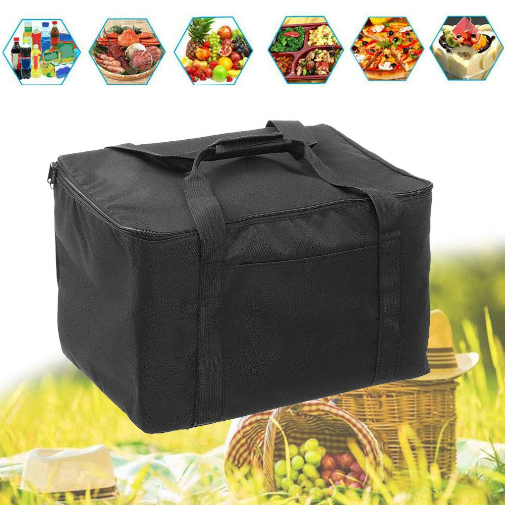 Bolsa de entrega de pizza con aislamiento bolsa de entrega de alimentos port/átil impermeable con aislamiento bolsa de picnic t/érmica para comida caliente t/érmica reutilizable Mochila para llevar