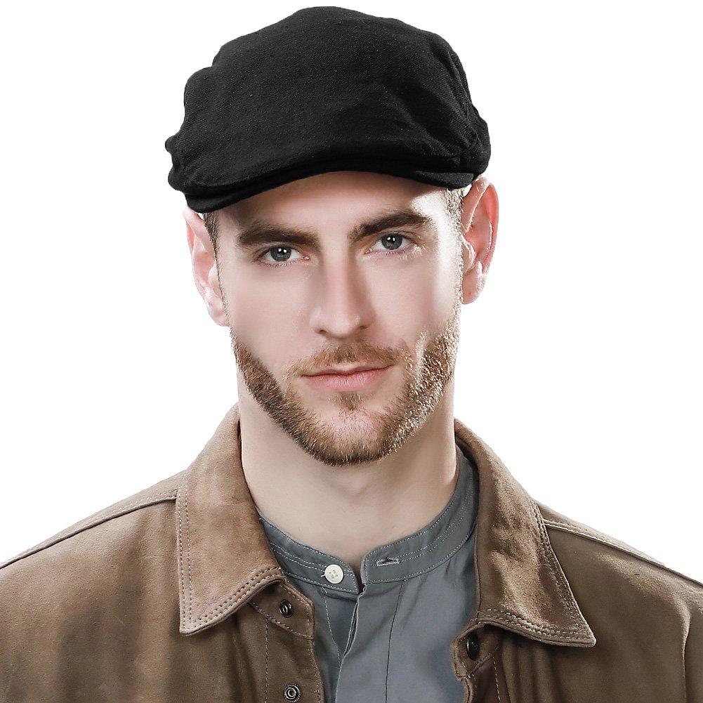 Siggi 100% Cotton Mens Flat Caps Gatsby Ivy Irish Hunting Newsboy Hat 57-59CM (7 Colours) CM16062-1