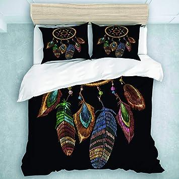 Tie Dye Multi Hamsa Fatima Indian Queen Duvet Cover Hippie Quilt Comforter Set